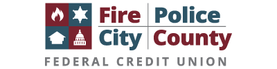 Fire Police City County Federal Credit Union Logo